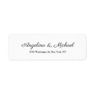 Etiqueta Escrita criativa profissional Wedding do roteiro