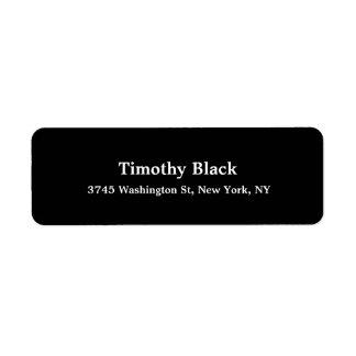 Etiqueta Estilo moderno liso elegante branco preto criativo