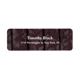 Etiqueta Estilo moderno liso elegante de madeira de Brown