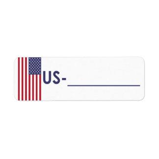 """Etiqueta EUA da """"estilo da identificação de Postcr"""