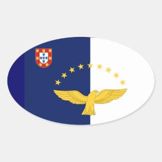 Etiqueta européia do Oval do estilo da bandeira de Adesivo Oval