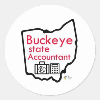 Etiqueta explicando do estado do Buckeye de Ohio