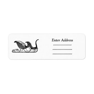 Etiqueta feita sob encomenda da etiqueta de etiqueta endereço de retorno