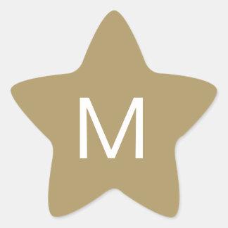 Etiqueta festiva da inicial da estrela adesito estrela