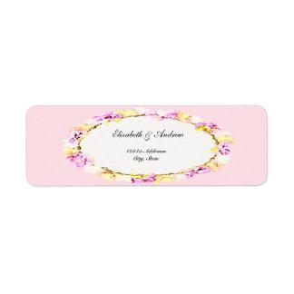 etiqueta floral da flor macia elegante