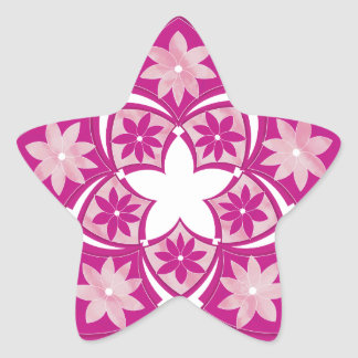 Etiqueta floral decorativa dos azulejos da estrela adesito estrela