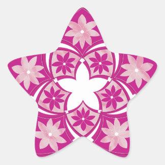 Etiqueta floral decorativa dos azulejos da estrela adesivo estrela