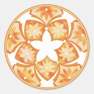 Etiqueta floral decorativa dos azulejos do outono adesivos redondos