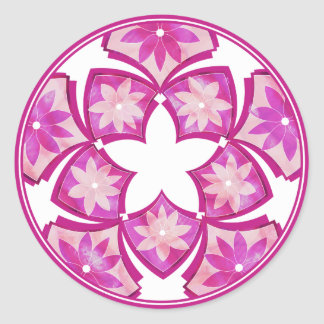 Etiqueta floral decorativa roxa dos azulejos adesivos