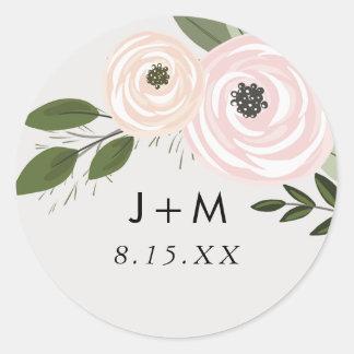 Etiqueta floral dos Sprigs do casamento