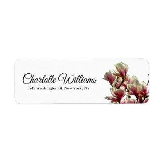Etiqueta Floral moderno elegante minimalista branco das