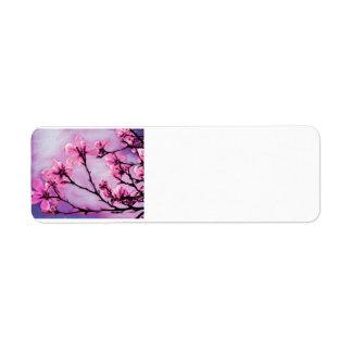 Etiqueta Flores de cerejeira cor-de-rosa