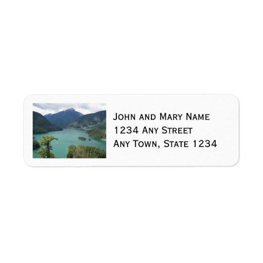 Etiqueta Foto norte do lago Diablo das cascatas
