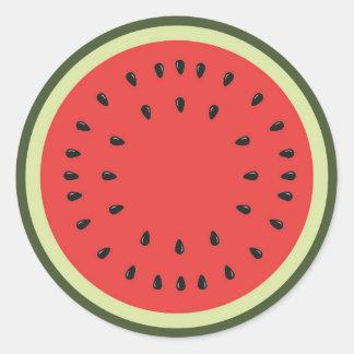 Etiqueta frutado da melancia