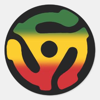 Etiqueta gravada 45 do solteiro da reggae do adesivo