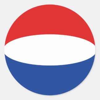 Etiqueta holandesa da bandeira de Fisheye