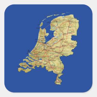 Etiqueta holandesa do mapa