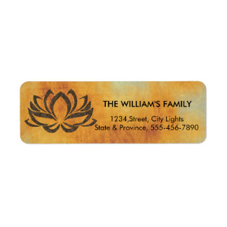 Etiqueta Holístico rústico do vintage da ioga da flor de