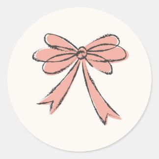 Etiqueta ilustrada do arco - salmão adesivo