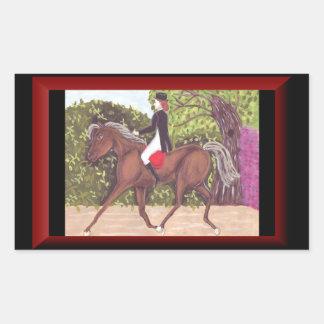 Etiqueta inglesa da equitação do estilo do cavalo