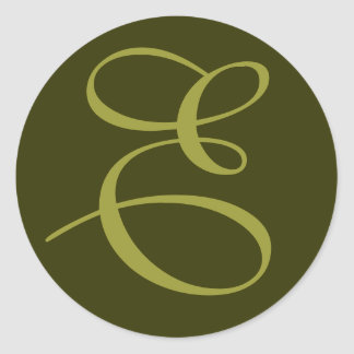 Etiqueta inicial de E Adesivo