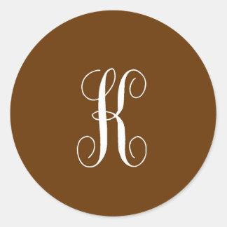 Etiqueta inicial de K Adesivo