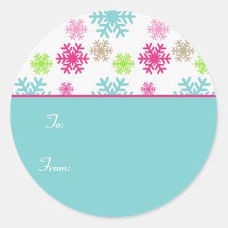 Etiqueta Labels//Aqua do Tag do presente do Natal Adesivo