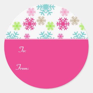 Etiqueta Labels//Pink do Tag do presente do Natal Adesivo