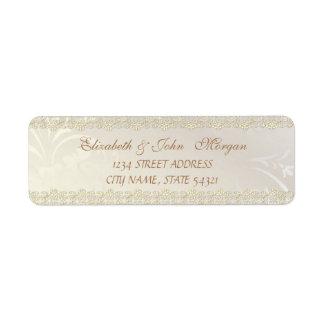 Etiqueta Luxo chique elegante, laço