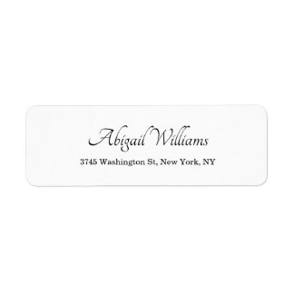 Etiqueta Moderno profissional minimalista branco elegante