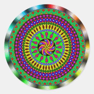 Etiqueta Mystical brilhante & colorida da mandala