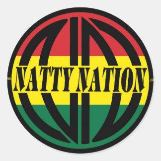 Etiqueta NATTY do logotipo Adesivo Redondo