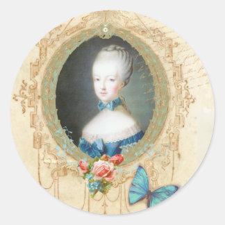 Etiqueta nova do ornamentado de Marie Antoinette Adesivo
