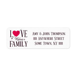 Etiqueta O amor faz uma família - fontes do partido da