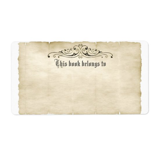 Etiqueta O pergaminho velho do estilo do vintage adiciona