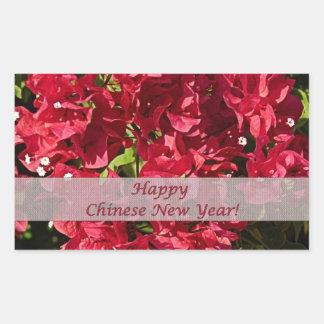 Etiqueta oblonga chinesa do Bougainvillea vermelho