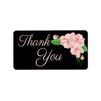 Etiqueta Obrigado que floral você pica & enegrece a flor -