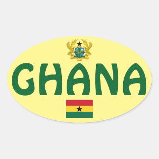 Etiqueta oval européia do estilo de Ghana