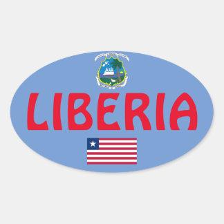 Etiqueta oval européia do estilo de Liberia