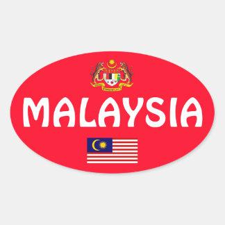 Etiqueta oval européia do estilo de Malaysia