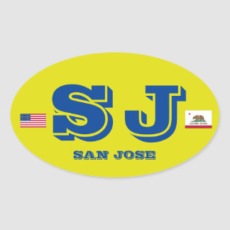 Etiqueta oval européia do estilo de San Jose