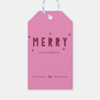 Etiqueta Para Presente A FELIZ Sparkles Tag festivo do presente da