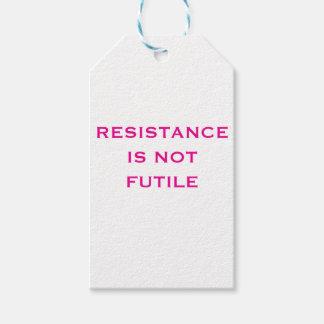 Etiqueta Para Presente A resistência não é inútil
