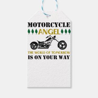 Etiqueta Para Presente Anjo da motocicleta