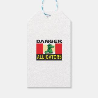 Etiqueta Para Presente aviso do jacaré do perigo