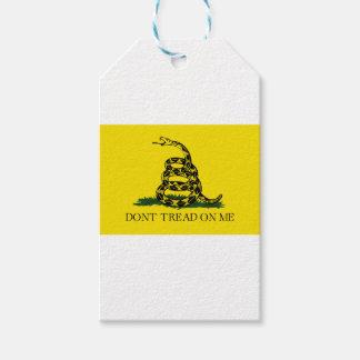 Etiqueta Para Presente Bandeira de Gadsden - não pise em mim - cobra