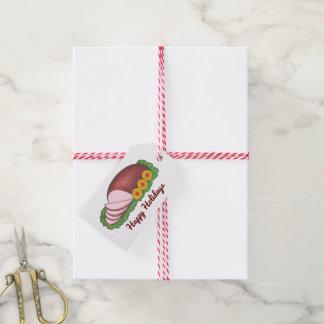 Etiqueta Para Presente Boas festas Tag do presente de Foodie do presunto