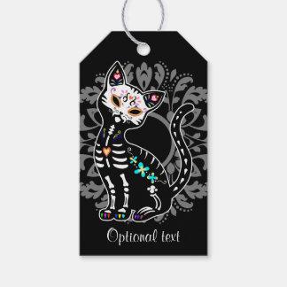 Etiqueta Para Presente Dia feminino do costume bonito inoperante do gato