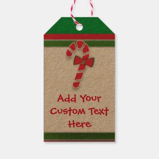 Etiqueta Para Presente Doces aos Tag doces dos bastões de doces do Natal
