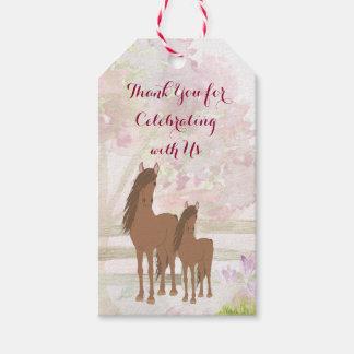 Etiqueta Para Presente Égua, potro e cavalo bonito personalizados das